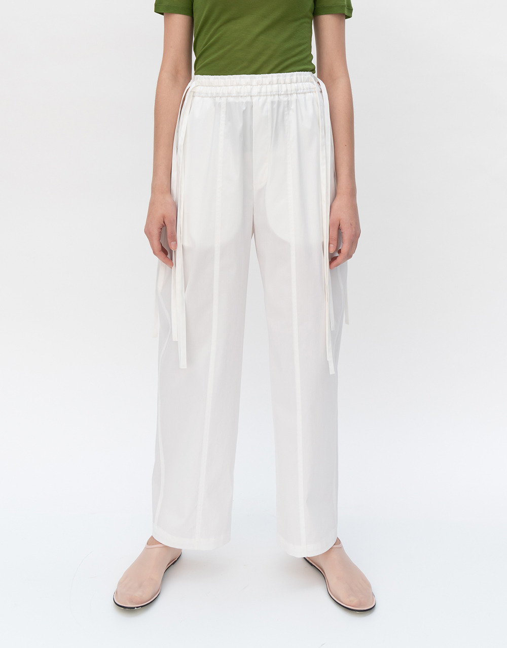 GBH APPAREL ADULT  String Banding Pants WHITE