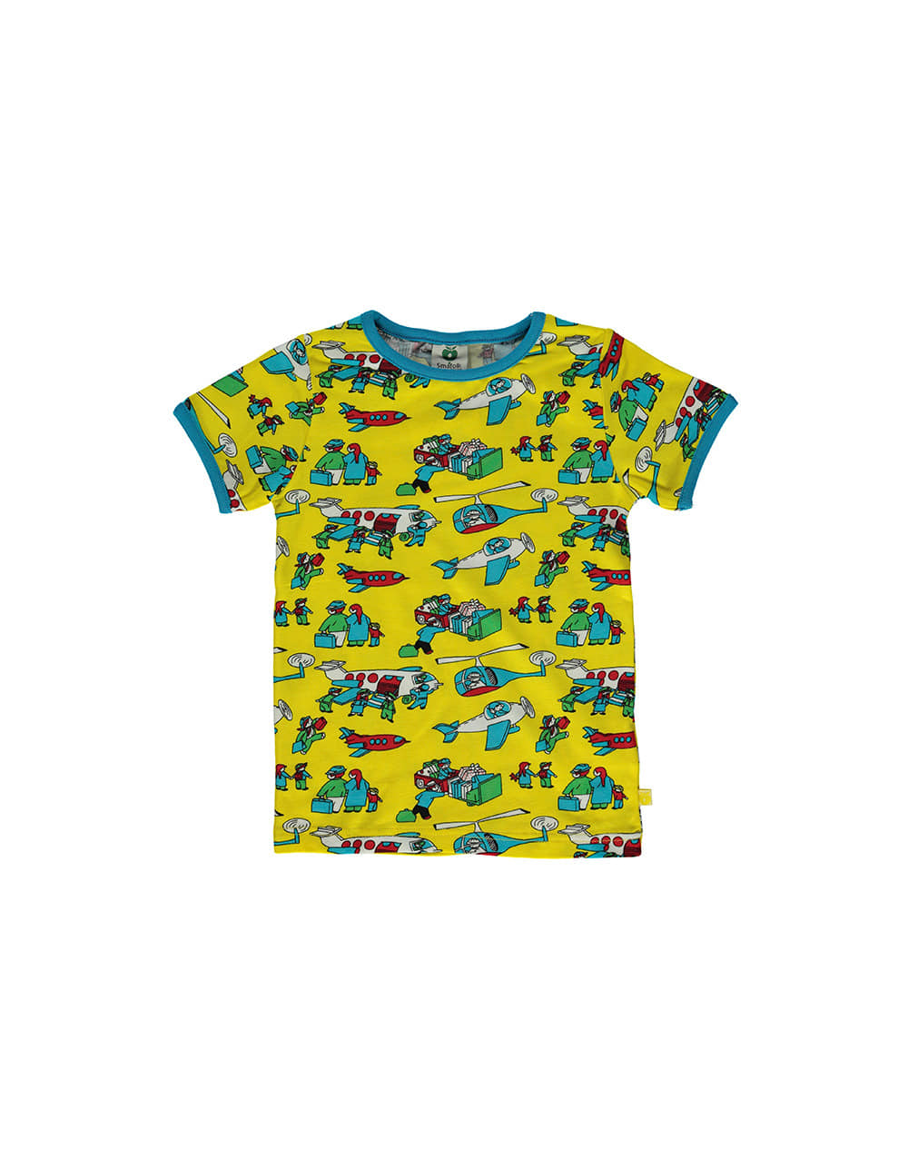 SMAFOLK  T-shirt with  Airport  Yellow