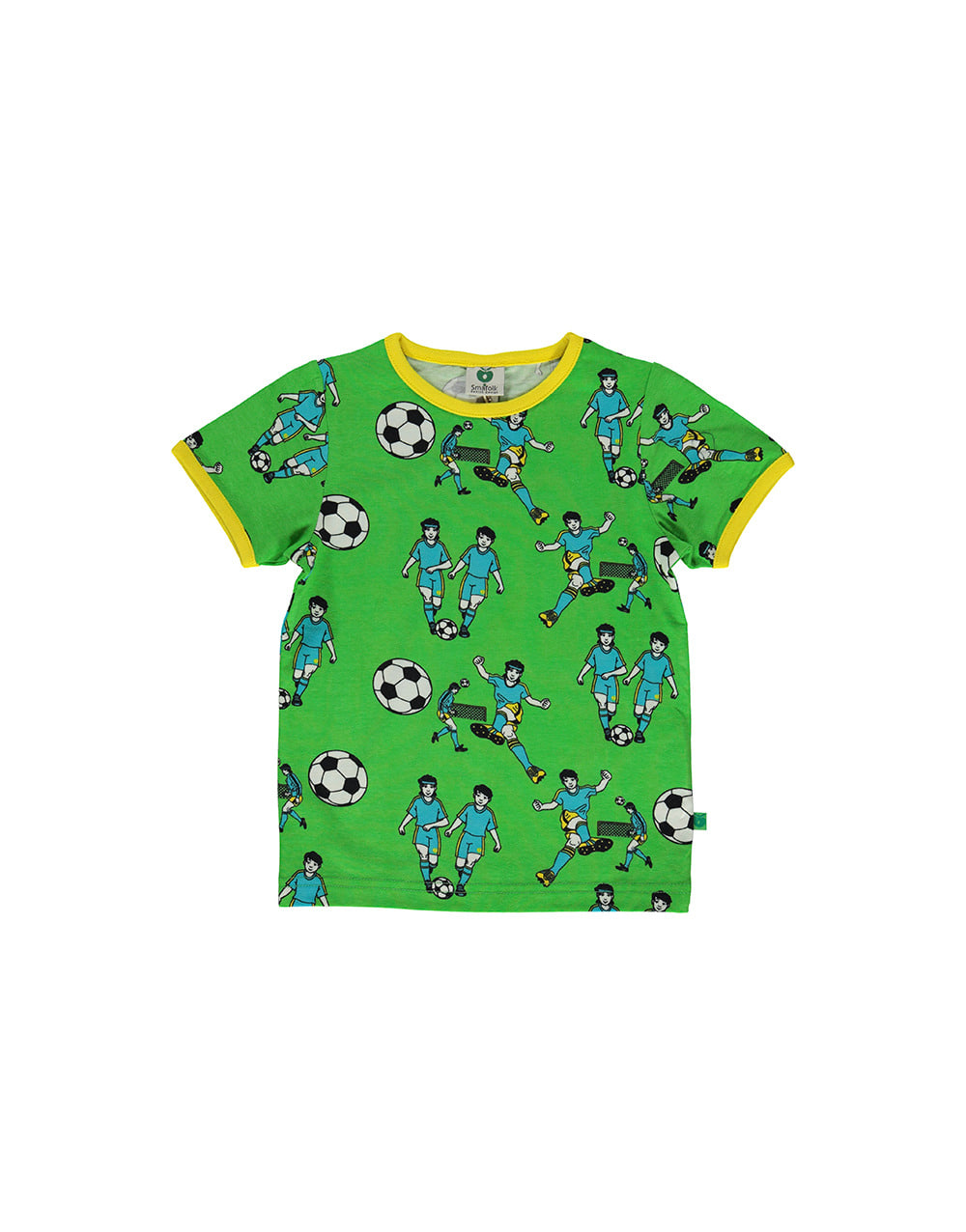 SMAFOLK  T-shirt with Football  Green