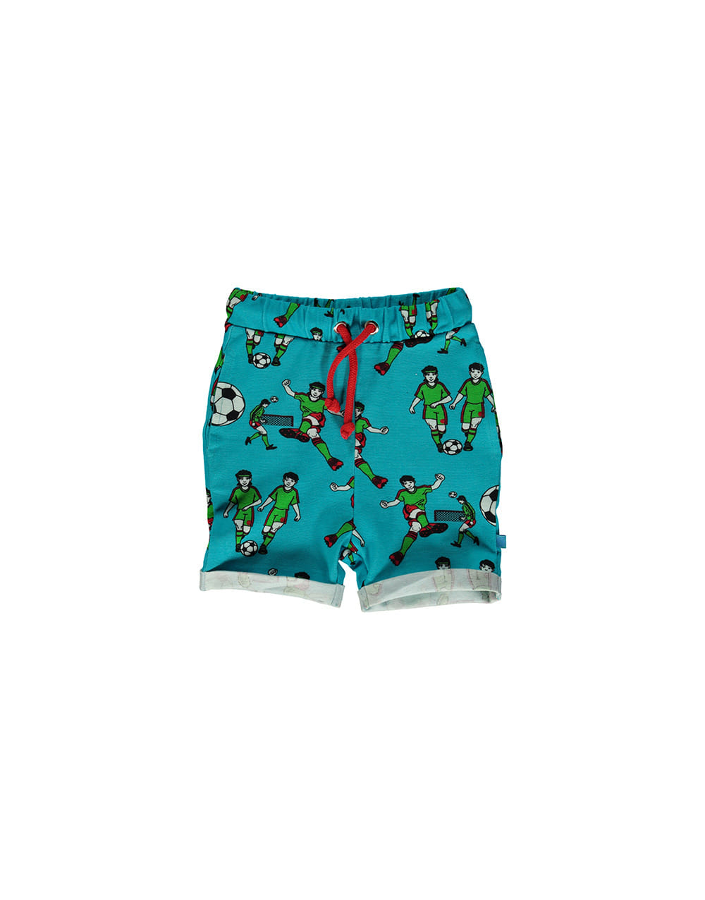 SMAFOLK Shorts with Football  Blue Atoll