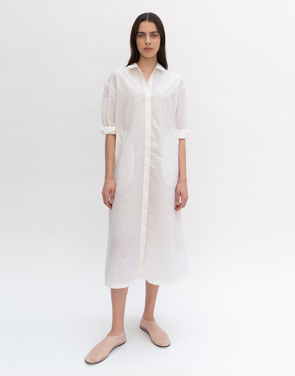 GBH APPAREL ADULT  Oversize Shirts Dress WHITE