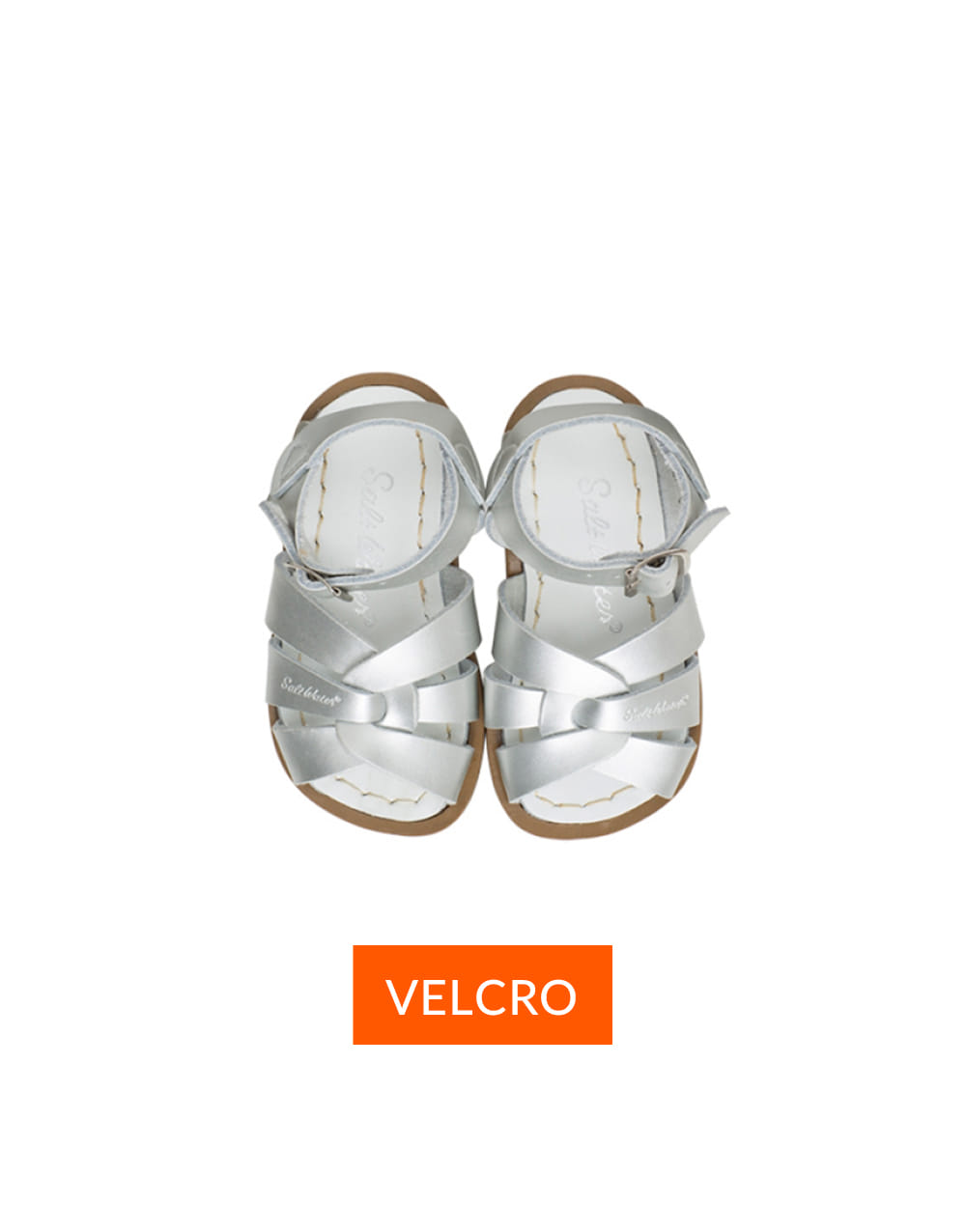 SALT-WATER SANDAL  CHILD VELCRO ORIGINAL PREMIUM  Silver