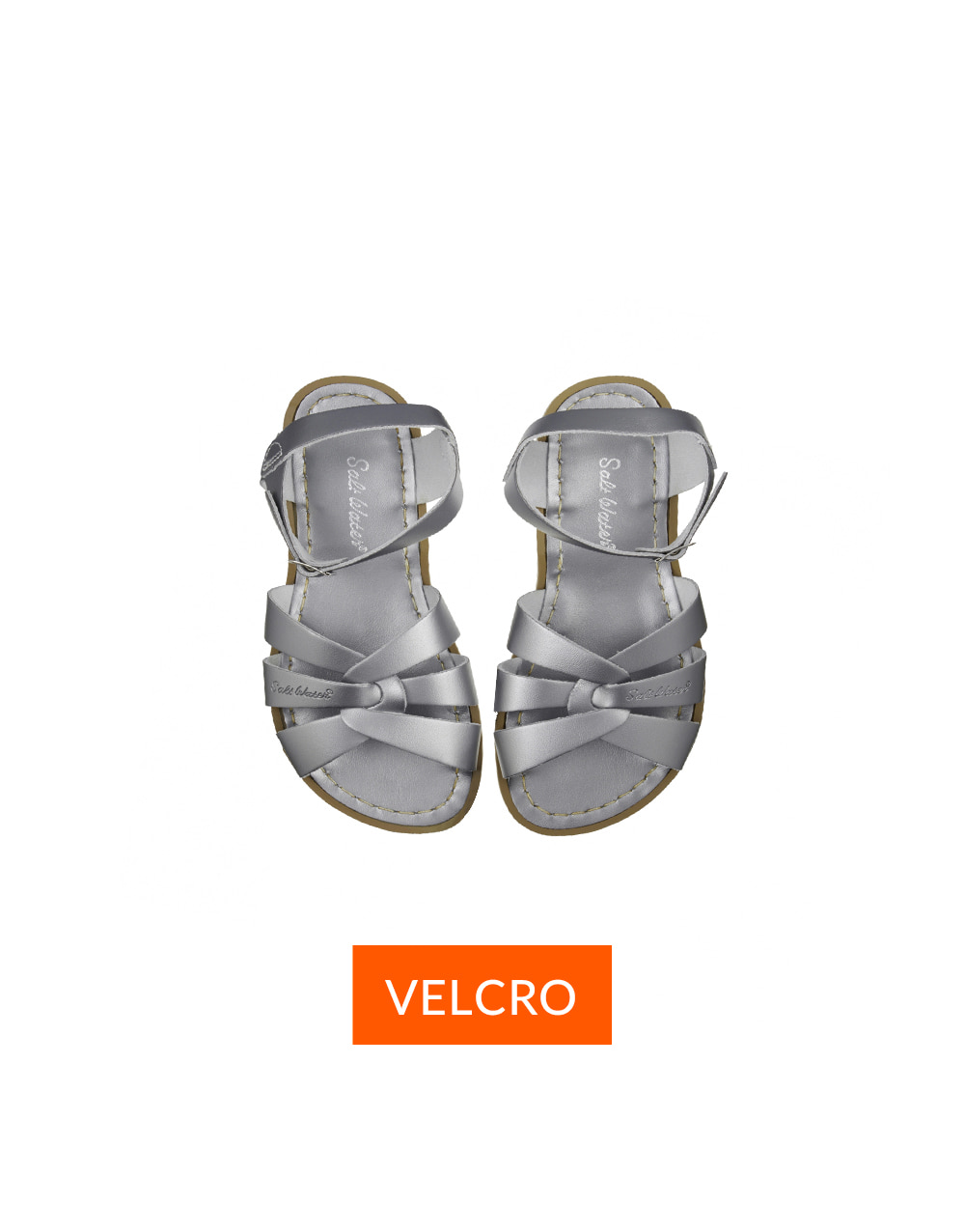 SALT-WATER SANDAL  CHILD VELCRO ORIGINAL PREMIUM  Pewter