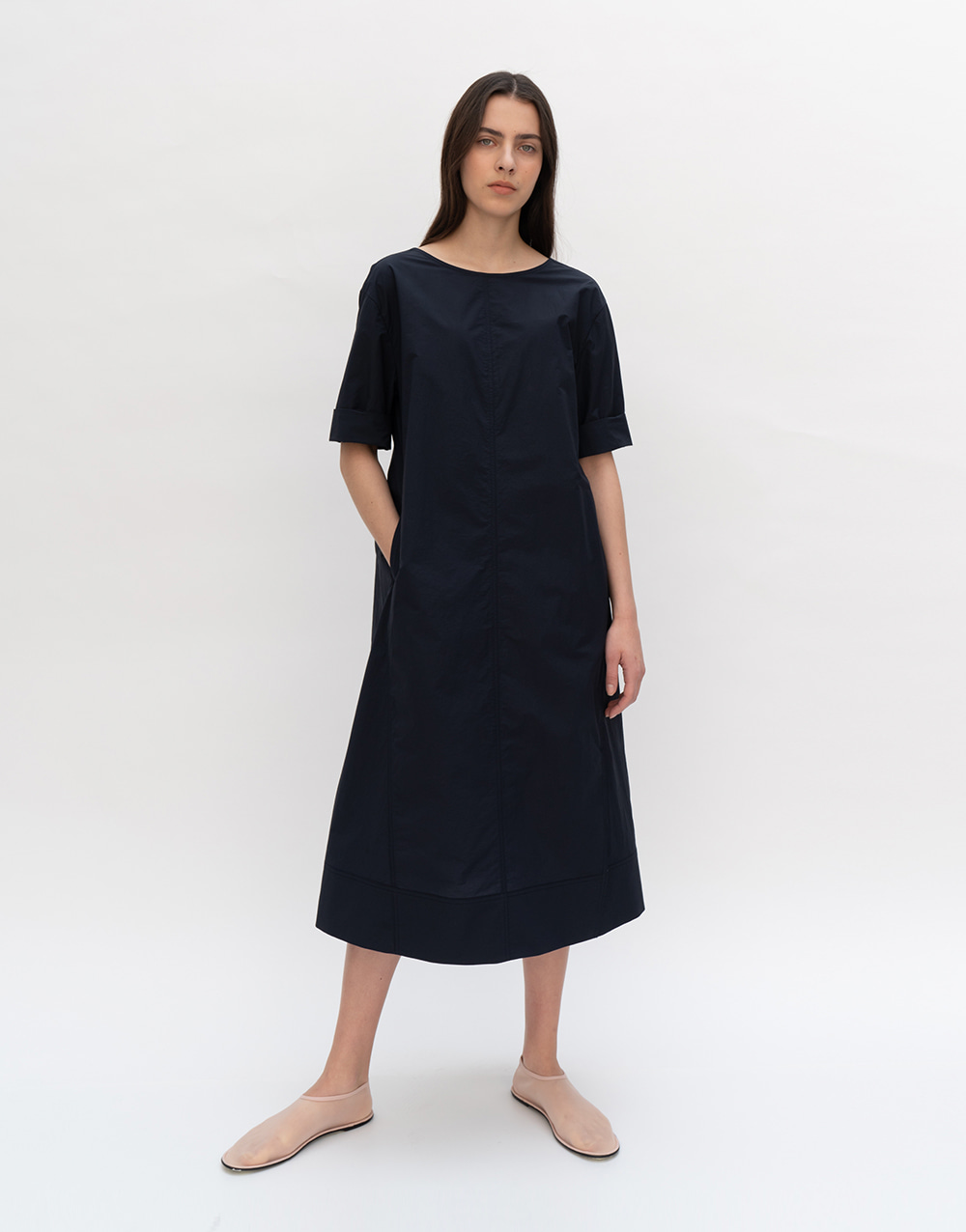 GBH APPAREL ADULT  Summer Backless Dress   DARK NAVY