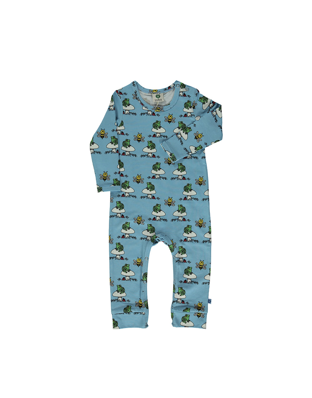 SMAFOLK  Suit with Frog  Blue Grotto
