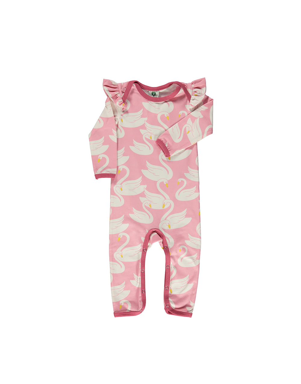 SMAFOLK  Suit with Swans   Sea pink
