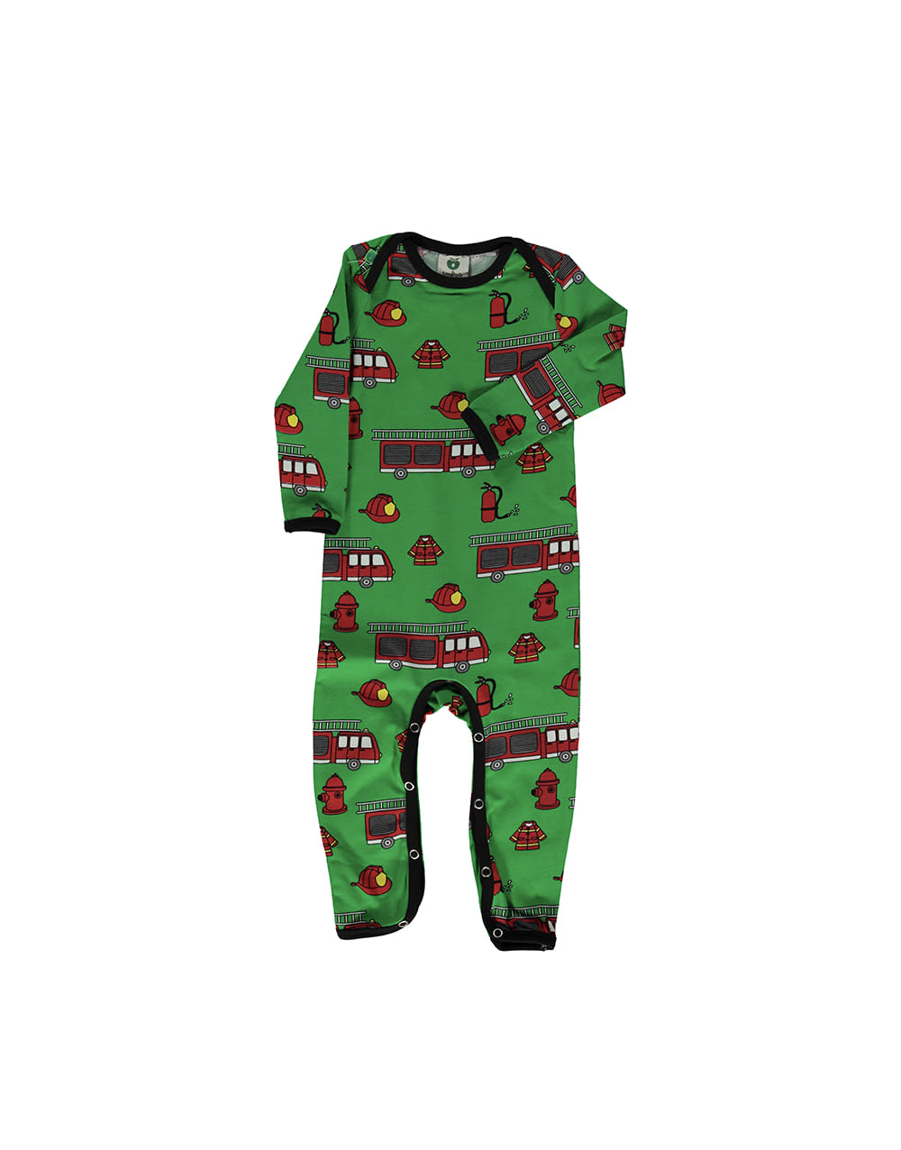 SMAFOLK  Suit with Firetruck  Apple green
