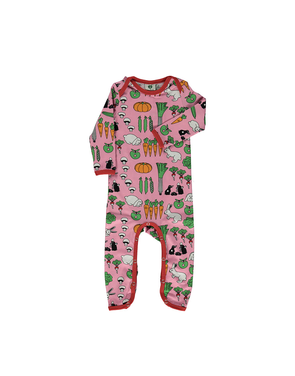 SMAFOLK  Suit with Vegetables  Sea pink