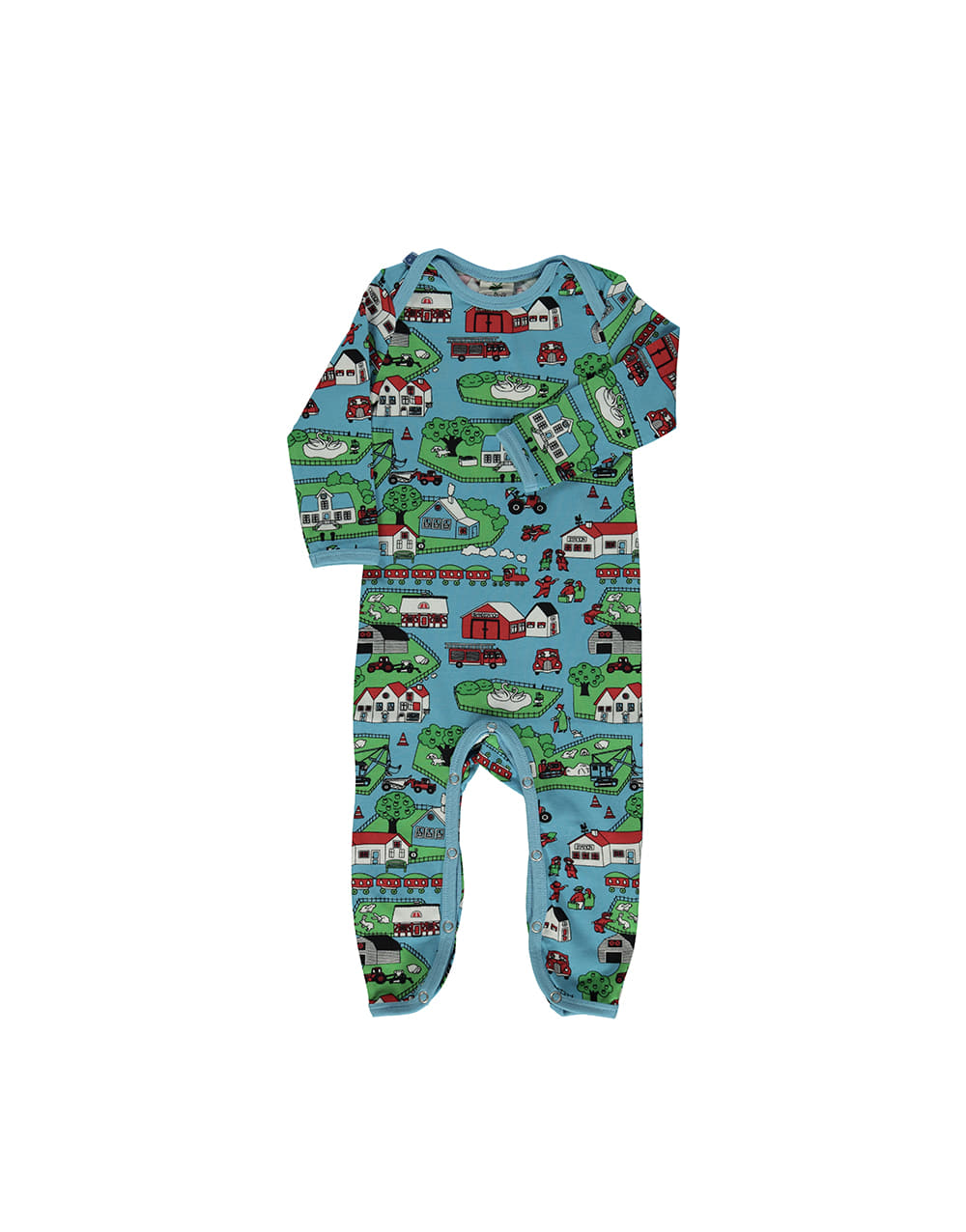 SMAFOLK  Suit with Landscape  Blue Grotto