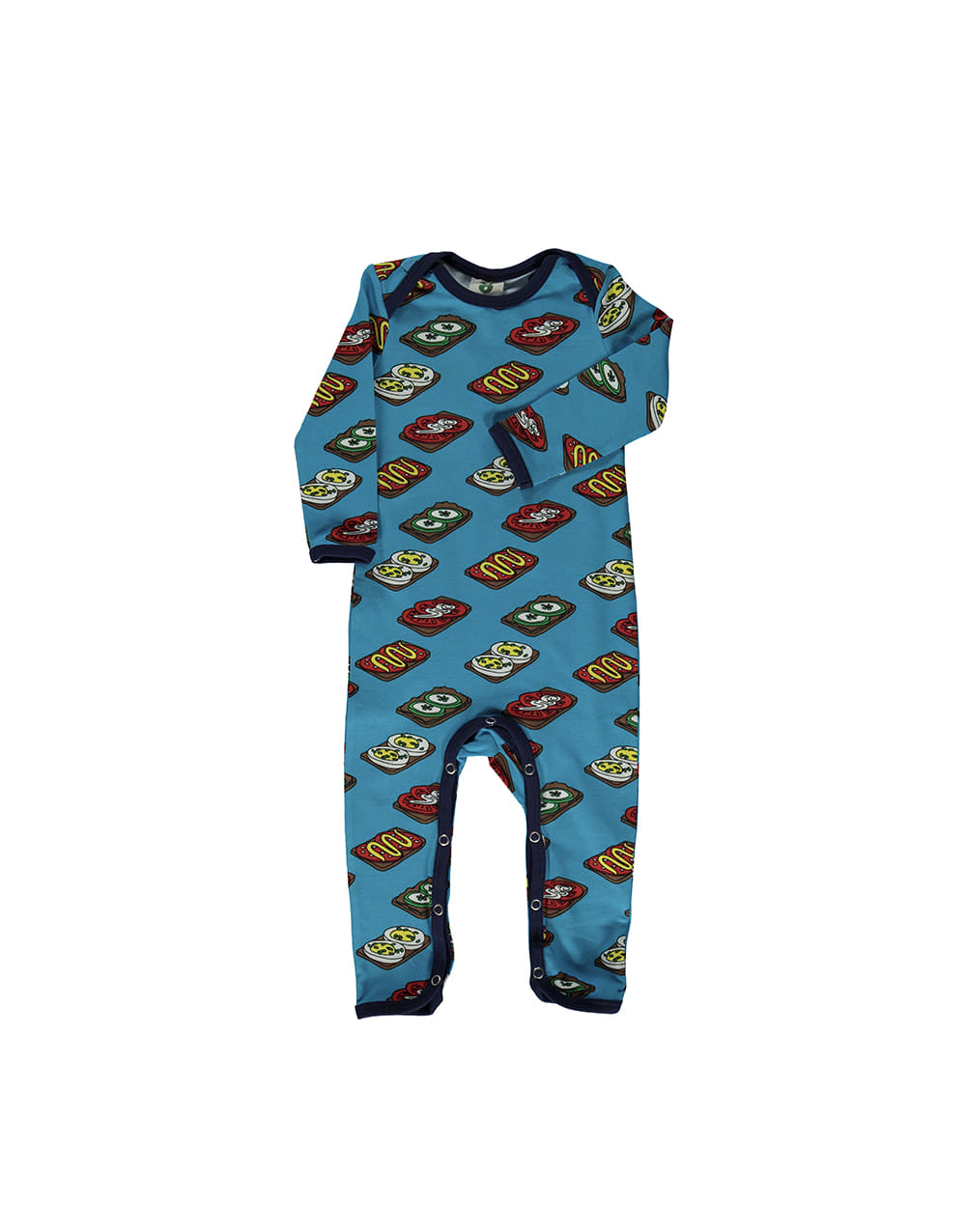 SMAFOLK  Suit with Food Ocean Blue
