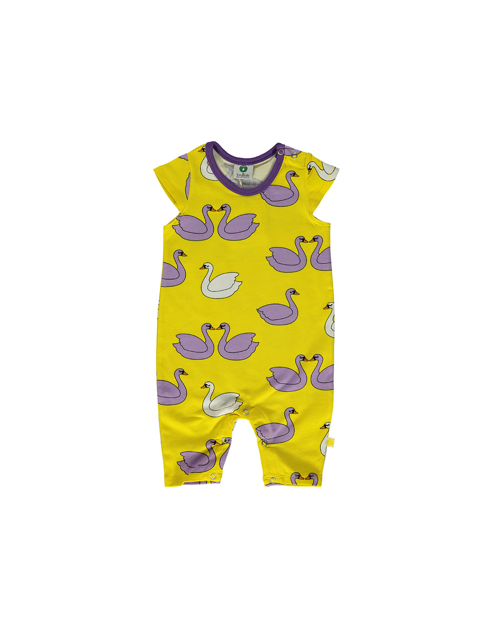 SMAFOLK  Summer Suit with Swans   Yellow