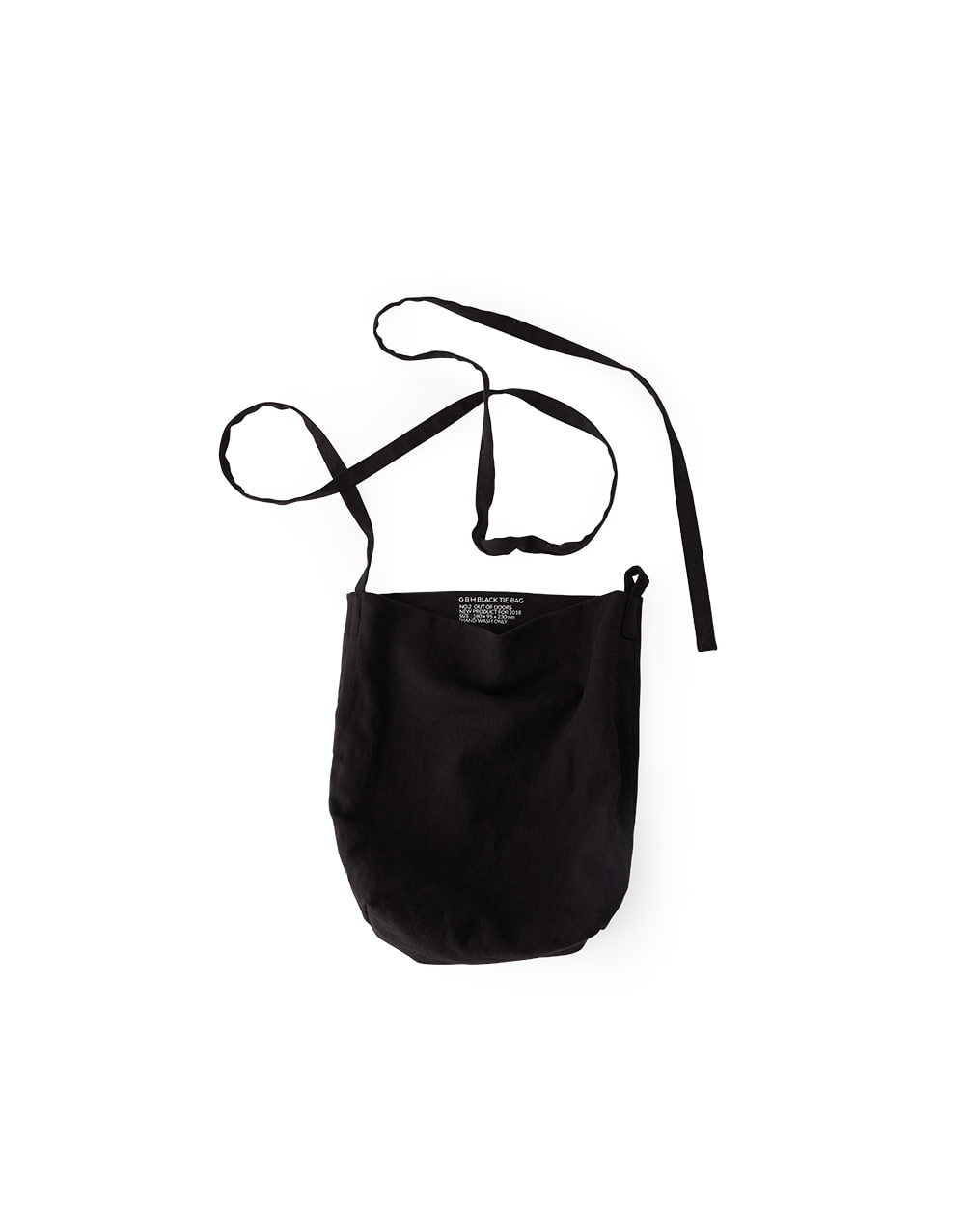 GBH HOME BLACK TIE BAG  SMALL